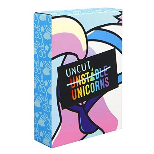 Uncut Unstable Unicorns Ungeschnitten Instabile Einhörner Kartenspiel Ungeschnitten Einhörner-Erweiterungspakete Sammlung Spielen Spaß für Kinder Erwachsene Gadgets Neuheit Spielzeug