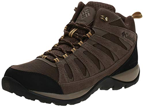 Columbia Men's Redmond V2 MID Waterproof Hiking Shoe, Cordovan, Baker, 10.5 Wide US