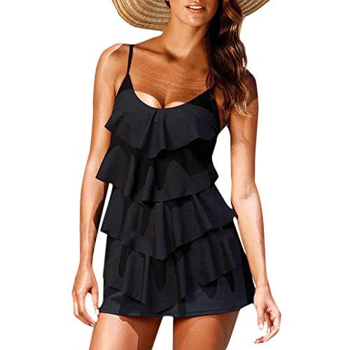 Toamen Costume da Bagno Donna Intero da Spiaggia Donna Costumi da Bagno Intero da Bagno Bikini Imbottito Push-up Monokini-Bikini Donna Bendaggio del Collo V-Collo Beachwear