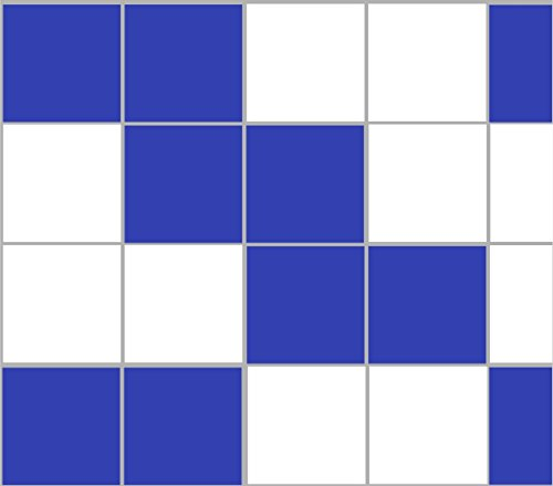 Stickerkoenig Fliesenaufkleber Kacheldekor 10x10cm Badezimmer Küche 40 Stück in glanz Farbe Brillantblau