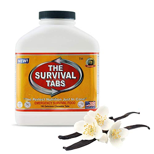 Emergency Survival Food Tablets 1 bottle 180 count Vanilla Flavored