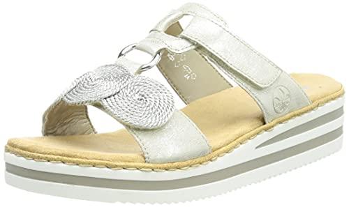 Rieker Damen V02K3 Sandale, Silber, 38 EU