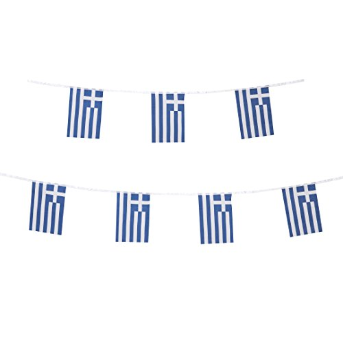 TSMD 100 Feet Greece Flag Greek Flag National Country World Flags,Party Decorations for Olympics,Bar,World Cup,Sports Event,School Event,European Cup,International Festival Events