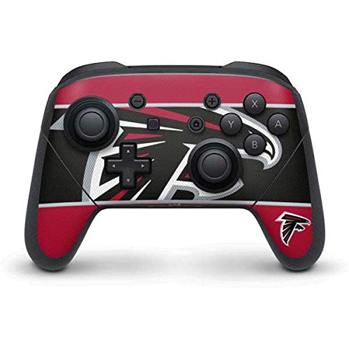 Skinit Decal Gaming Skin Compatible with Nintendo Switch Pro Controller - Officially Licensed NFL Atlanta Falcons Zone Block Design
