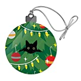 GRAPHICS & MORE Black Cat Hiding in Christmas Tree Acrylic Christmas Tree Holiday Ornament