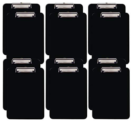 Black Plastic Clipboards, 12 Pac...