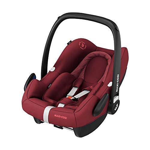 Maxi-Cosi 8555701110 Rock Babyschale, sicherer i-Size Baby-Kindersitz, Gruppe 0+ (0-13 kg), nutzbar ab der Geburt bis Circa 12 Monate, Essential Red, grau, 3.9 kg