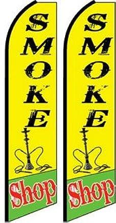 Complete Kit Smoke Shop Hookah Bar Feather Banner Flag