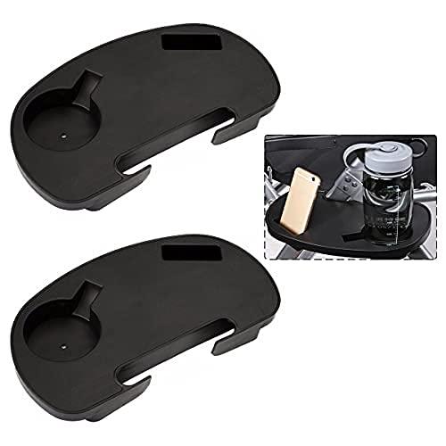 Confezione da 2 vassoi laterali per sedie a sdraio, ovali Zero Gravity Large Utility Clip sul tavolino reclinabile con tazza