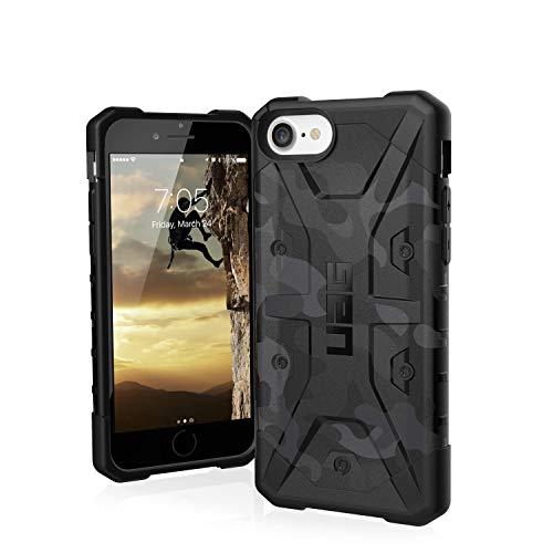 Urban Armor Gear Pathfinder Funda para Apple iPhone SE (2020) / 8 / 7 / 6S Cubierta protectora (Compatible con la carga inalámbrica, Resistente a los choques, Parachoques ultra delgado) - Negro (Camo)