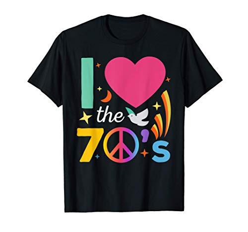 70er Jahre Outfit I love the 70s für Flower Power Hippies T-Shirt