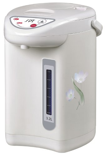 SPT Hot Water Dispenser with Dual-Pump System (3.2L), 10.2 x 10.2 x 13.4 Inch, Off White