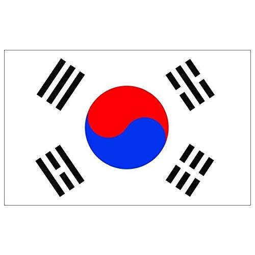 Wilk 3 x 5 voet Zuid-Korea-vlag Vivid kleur nationale vlaggen UV fade Resistant dubbel gestikte Korea National Banner