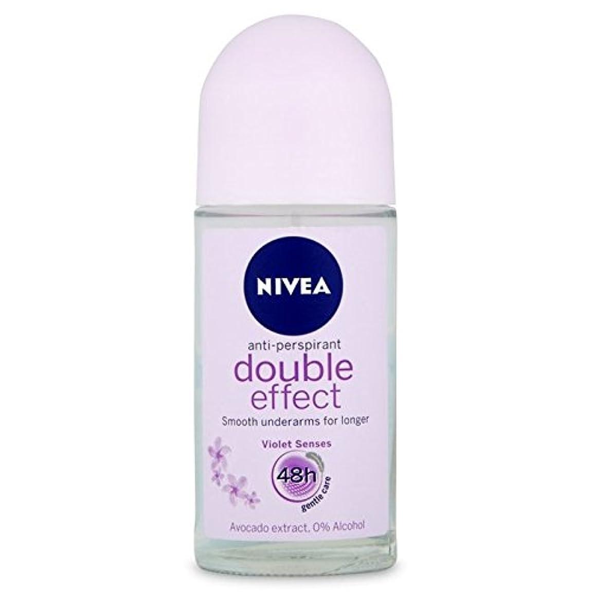 分配送抵抗Nivea Deo Double Effect Gentle Care Roll On Deodorant 50ml - 消臭50ミリリットルのニベアダブル効果優しくケアロール [並行輸入品]