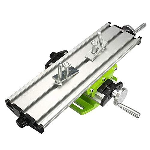 Busirsiz Mini precisión multifunción mesa de trabajo de banco tornillo de fijación taladro fresadora X y eje Y tabla de coordenadas de ajuste