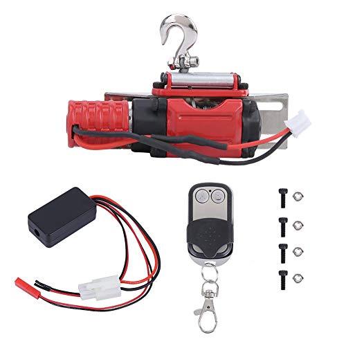 Jadpes Afstandsbediening Winch Controller, RC Modelauto Universal Winch met Button Controller Kit geschikt voor SCX10 1:10 RC Crawler Accessoires