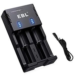 EBL iQuick Cargador para Pilas de Litio 18650 26650 14450 y Ni-MH Ni-CD AA AAA C Pilas Recargables Cargador Inteligente
