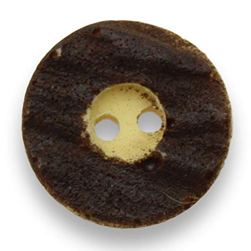 kawenSTOFFE Lot de 10 Boutons en Plastique pour Costume Traditionnel Marron 20,5 mm