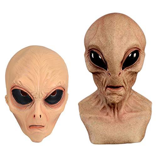 Aliens Maske, Halloween Horror Adult Maske, Halloween Cosplay Kostüm Maske Für Erwachsene Scary Party Decoration Requisiten (One Size) (Lange)