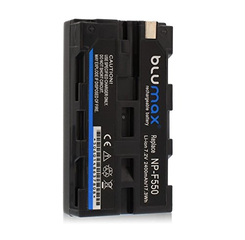 Blumax NP-F550NP F5502400mAh, 7,2V), Power Pack de batería de repuesto para Sony Handycam CCD-TR CCD-TRV DCR-TR DCR-TRV DCR-VX hdr-fx MVC Series