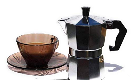 Cafetera italiana de aluminio de 3 tazas