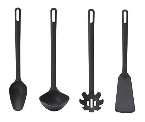 Ikea Fullandad Küchenhelfer-Set, 4-teilig, Löffel, Schöpflöffel, Spaghettischaufel