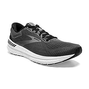 Brooks Mens Transcend 7 Running Shoe - Black/Ebony/Grey - D - 9
