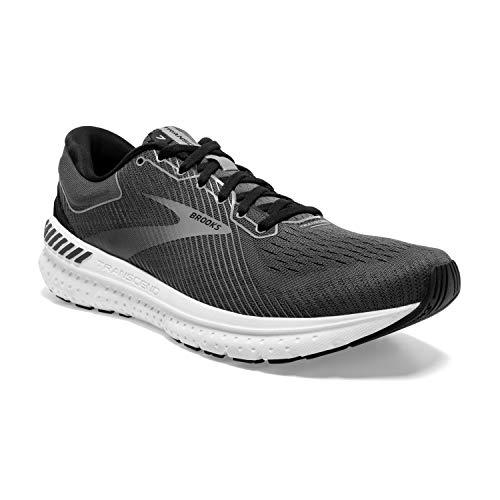 Brooks Mens Transcend 7 Running Shoe - Black/Ebony/Grey - D - 9.5
