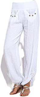 FSSE Women's Casual Wide Leg Palazzo Lounge Pants Low Rise Loose Fit Pants Trousers