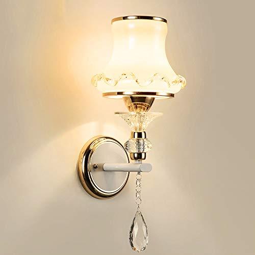 boaber Botella Colgante De Cristal Lámpara De Pared 15 * 40 Cm Estilo Europeo Pasillo Simple Pasillo Comedor Sala De Estar Dormitorio Cama Dorada Luz Cálida
