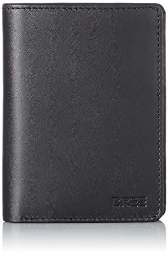 BREE Collection Herren Pocket New 108, Id Card Holder Geldbörse, Schwarz (Black), 2x13x10 cm