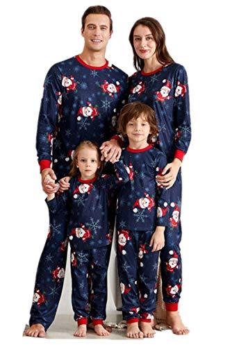 Pijamas de Navidad Familias Pijamas Conjuntos de Navidad de Papá Noel Ropa de Dormir cómoda Ropa de casa Ropa de...