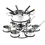 Niumen Fondue Set,Alcohol Stove Cheese Fondue Pot Rotating Alcohol Stove Chocolate Fondue Maker Set For Table-side Service, Buffet And Party Table