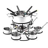 iBaste Set de fondue de chocolate y mini fondue de alcohol, queso, fondue rotatorio