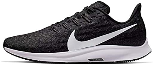 Nike Men's Air Zoom Pegasus 36 Running Shoes (Black/White-Thunder Grey, 10.5)
