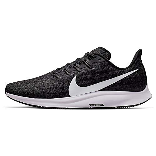 Nike Air Zoom Pegasus 36, Zapatillas de Correr Hombre, Negro (Black/White/Thunder Grey 002), 44.5 EU