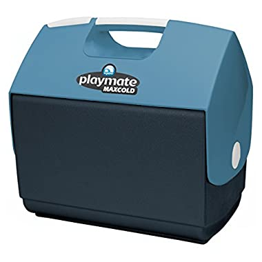 Igloo Playmate Elite MaxCold Personal Cooler, Jet Carbon/Ice Blue/White, 16 quart