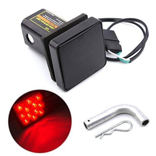 HEHEMM Feu stop universel 12 LED pour voiture, remorque, camion, pickup 12 V (lentille fumée)