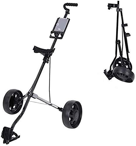 LMM Push-Pull-Golf-Trolley-2-Rad, leicht zusammenklappbare Tasche Wagen mit Anzeiger, Folding Golf Handwagen