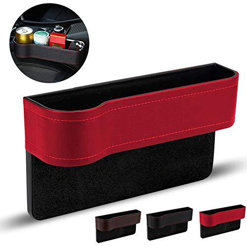 Vano Portaoggetti per Auto,Scatole Portaoggetti per Sedile Auto,Accessorio per Interno Auto Contenitore,Gap Storage Organizer,Tasche a Fessura della Fessura del Sedile(rosso, sinistra)