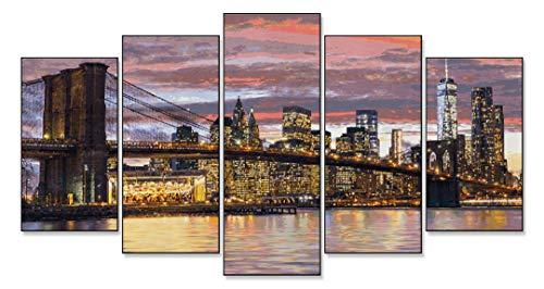 Schipper- Mnz der Morgendämmerung Dipingere con i Numeri, New York al Crepuscolo 132 x 72 cm, Colore, 609450806