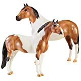 Breyer Traditional Series The Gangsters Tony Da Pony and Bugsy Maloney | 2 Horse Set | Horse Toy Models | 8.75' x 7.5' | 1:9 Scale | Model #1822