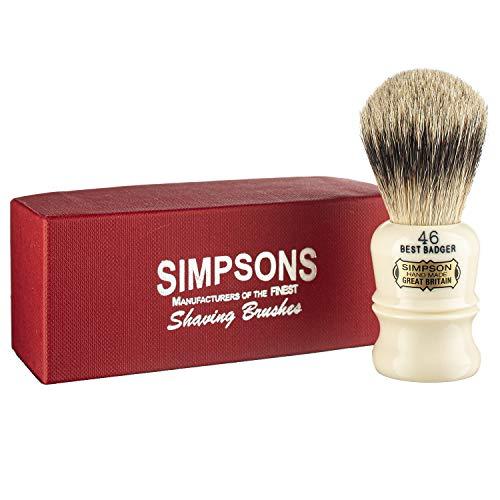 Simpson Berkeley Best 46 de pelo de tejón Best Badger con mango de resina