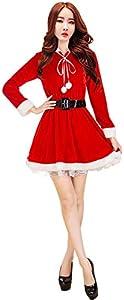 47-B Ropa de Navidad para adultos, estilo femenino, disfraz de escenario, lindo conejo, disfraz de escenario de Navidad (color: rojo-6, tamaño: grande)