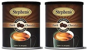 Stephens Gourmet Hot Cocoa Dark Chocolate  Dark Chocolate 1 Pound  Pack of 2