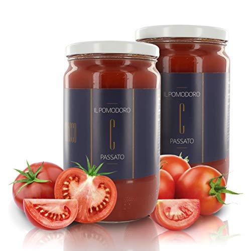 Cracco Passata di Pomodoro 100% Italiano, Puré de Tomate con Sal y Albahaca, 680gr (Paquete de 2 Piezas)
