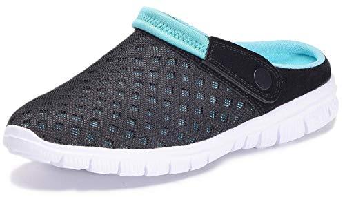 Unisex Clogs Hausschuhe Muffin Unten Alltägliche Drag Pantolette Sommer Beach Schuhe Sandalen für Damen Herren, Blau, 41 EU