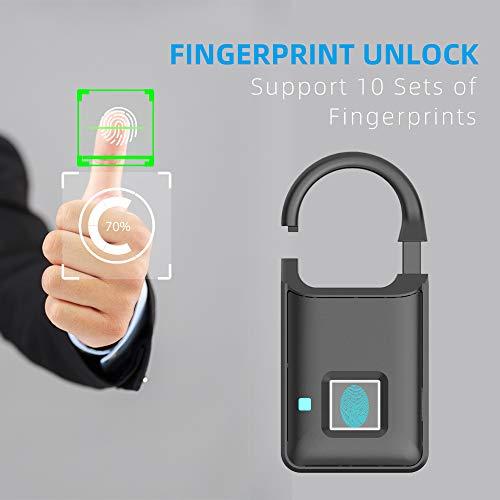 Yiwa P50 Digitale vingerafdruk, Smart Touch Lock, ontvangst, bagage, slaapzak, diefstalbeveiliging, intelligent, zonder sleutel, zeer lang nachtlampje, elektronisch slot