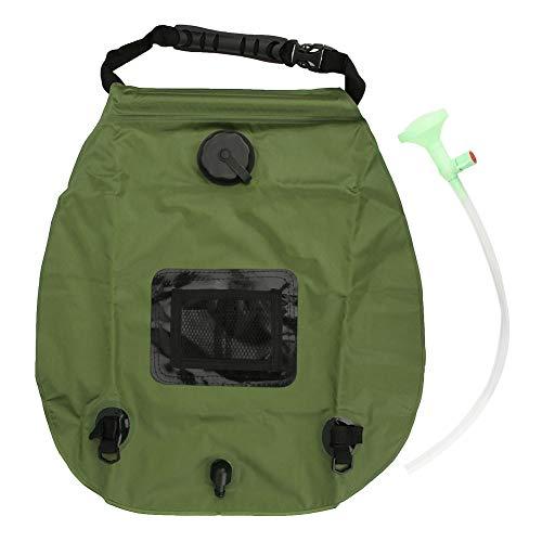 Yyqtgg Útil bolsa de ducha, solar bolsa de ducha 20L 48x46cm cabezal de ducha Oxford tela hecha para acampar senderismo playa viajar