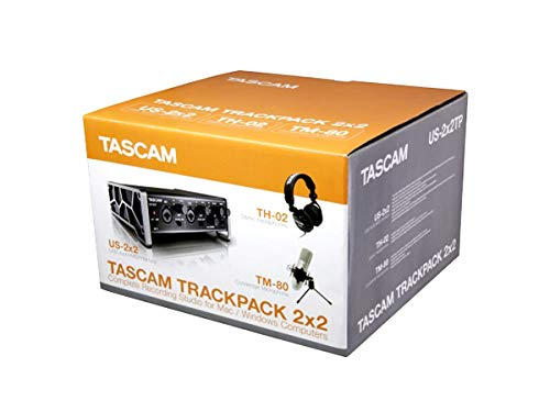 Tascam Trackpack 2x2 Complete Recording Studio Package for Mac/Windows Computers